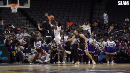 美国高中生篮球比赛,一言不合上演钉板大帽,引众多N*A球员观战