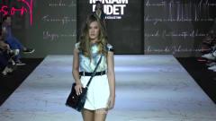 时装秀:白色短裙秀出纤细美腿,超模性感前卫
