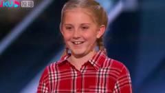 综艺:美国达人秀:小姑娘一人模仿多种动物叫
