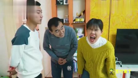 搞笑兄妹:兄妹互相恶搞,一个用胶带粘脸,一
