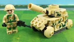 二战军事积木玩具:特种兵驾驶核心战甲出击,