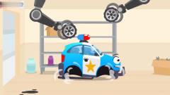 工程车搞笑动画警车大变身抓小偷