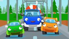 益智工程车:工程车搞笑动画水泥罐车和小蜜蜂