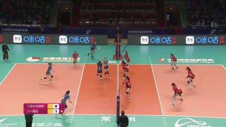 女排联赛5-8排位赛:江苏一输再输1-3负于八一