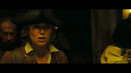 加勒比海盗2:当海盗打架时放起了欢快的音乐,