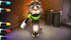 幼儿早教动画,给tom猫吐绿色口红好幽默!