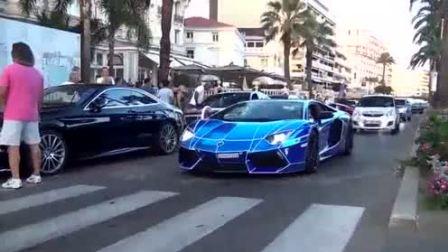 遍地是豪车 法国戛纳街拍各种超级跑车.