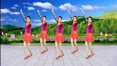 减肥瘦身广场舞《火火的爱》动感时尚,简单好看