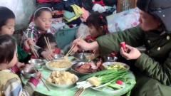 五个孩子吃肉视频成热门,大雪封山火炕取暖,