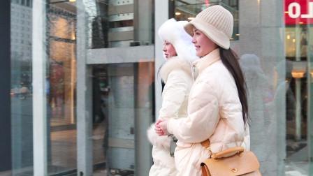 三里屯街拍:冬季里,无论什么时装都比不上甜