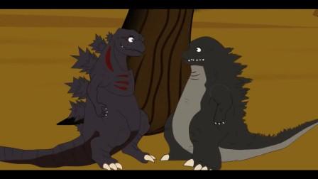 恐龙乐园搞笑动画 哥斯拉和烧鸡