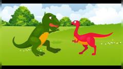 恐龙世界搞笑动画 霸王龙和似鸡龙异世界探险