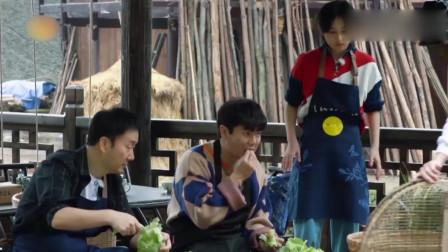 综艺片段:肖央生吃包菜惊讶的张子枫直飚东北