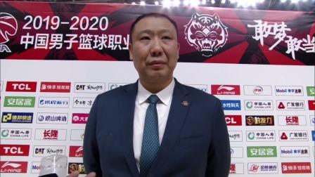 赛后采访-王晗:进攻不太流畅,人员调配比较困