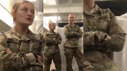 武器和美女你选谁?美军女兵自拍秀!