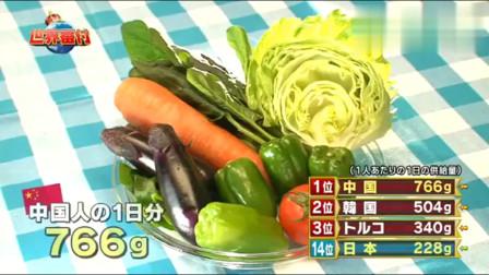 日本综艺:吃蔬菜最多国家的排行榜,中国第一