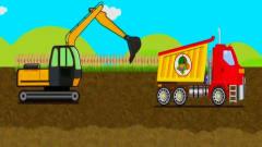 亲子早教启蒙卡通动画,自动组装一台挖掘机建
