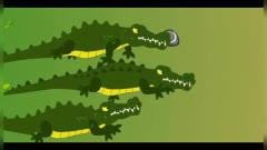 恐龙世界搞笑动画 哥斯拉大战三条鳄鱼