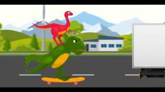 恐龙世界搞笑动画 霸王龙三角龙抓小偷