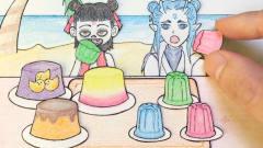 手绘定格动画:哪吒偷偷吃果冻,被敖丙发现了