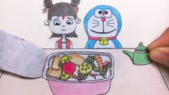 手绘定格动画:哪吒好会吃,点了一份自热火锅