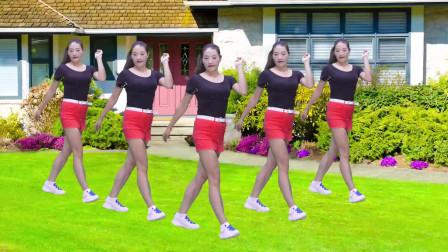 最新DJ广场舞《玛尼情歌》,美女动人舞姿,青春