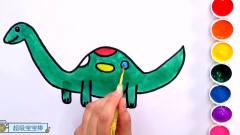 恐龙简笔画 棘龙三角龙梁龙卡通画