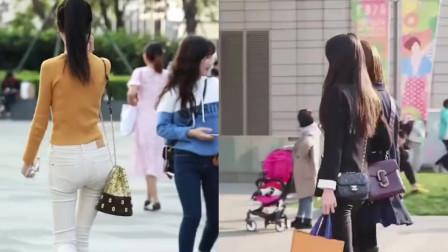 杭州街拍:这么好身材的小姐姐穿成这样出门,