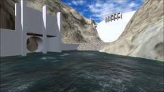 3D动画还原,一座大坝的建造过程,太宏伟了