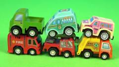 少儿卡通玩具车,消防车垃圾车公交车小火车工