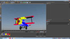c4d教程:卡通飞机涂颜色