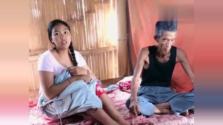 25岁离异缅甸美女和女儿相依为命,还有一个外公