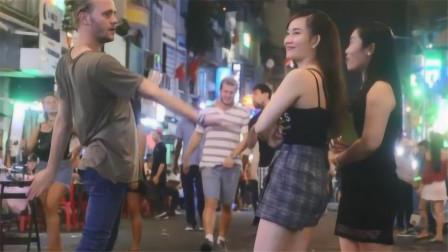 """越南夜市闲逛,为啥会有美女问要不要吃""""剩菜"""