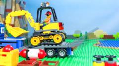 益智工程车:工程车玩具卡通:铲车和起重机帮