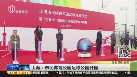 视频|上海: 市民体育公园足球公园开园