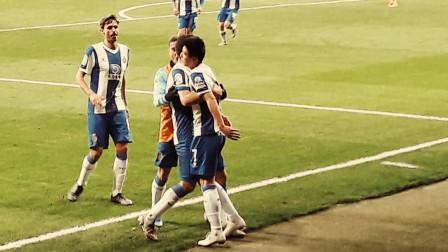 西班牙人VS巴萨:西甲现场角度欣赏梅西过人+德容红牌+武磊单刀破门!