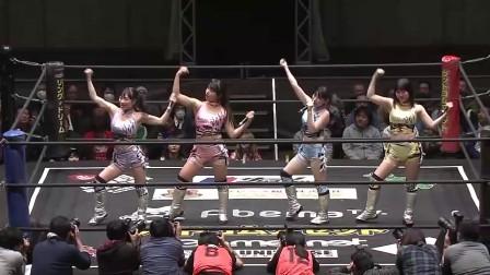 """女子摔角:""""摔角开始前,美少女们先唱上一段"""