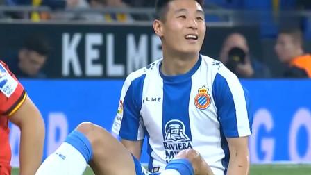 知道武磊在西甲进球少原因了!世界级跑位+小区级停球