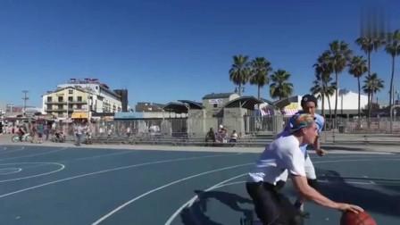 篮球:这1V1视频有些技巧干净实用,学两招去球场上用去!