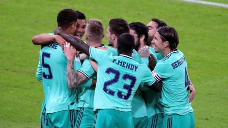 西超杯-克罗斯角球直接破门拉莫斯补时送点,皇马3-1瓦伦进决赛