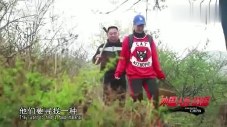 """老外在中国:外国美女来到中国学养生,跟着老师爬大山,挖出了这种""""宝贝""""!"""