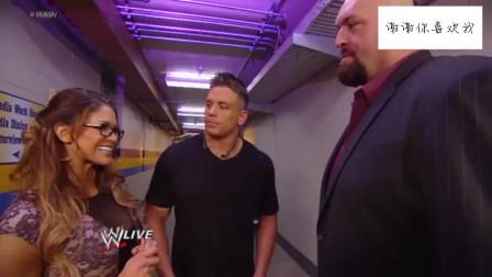 WWE猛男吃了雄心豹子胆,竟敢搭讪大秀哥的女友