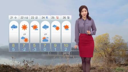 为了增加天气预报收视率真是拼了,韩国找美女