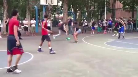 库里突现广州体育学院,和学生打街球什么水平