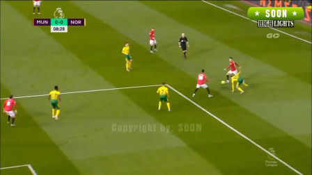 英超:曼联4-0诺维奇 拉什福德里程碑双响马塔双助攻