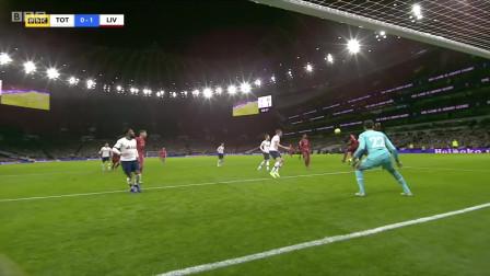 英超第22轮,热刺0:1利物浦,菲尔米诺制胜球