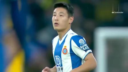 西甲官方回顾武磊对阵巴萨时的精彩表现头球造险+梦幻进球绝平!
