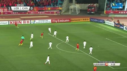 U23亚洲杯足球赛中国国奥对乌兹别克斯坦比赛