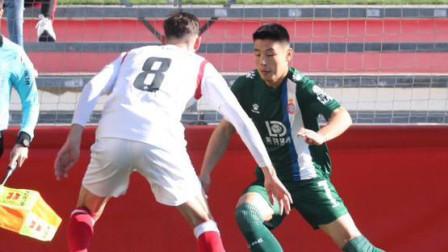 国王杯-武磊打满全场德托马斯首秀破门,西班牙人2-0晋级