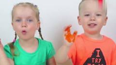 搞笑萌娃:萌娃小可爱们给动物们涂上对应的颜